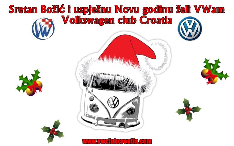Sretan Božić i uspješnu Novu godinu želi VWam VWCC